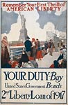 Remember your first thrill of American liberty WWI Poster