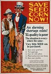 Uncle Sam and a farmer with corn - WWI Poster