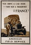 You drive a car here - why not in France? WWI Poster