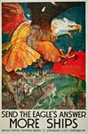 Send the eagle's answern WWI Poster