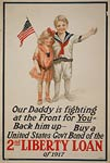 Our daddy is fighting at the front - World War I Poster