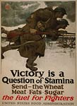 Soldiers running with bayonets US World War I Poster