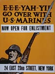 E-e-e-yah-yip Go over with U.S. Marines WWI Poster