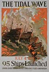 The tidal wave - July 4, 1918 - World War I Poster