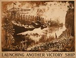 Launch of Lady Janet Victory Ship - World War I Poster
