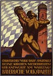 German World War I Poster - Bavarian People's Party