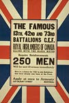CEF Royal Highlanders of Canada Union Jack Poster