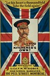 Lord Kitchener Union Jack Canadian War Poster