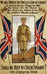 Crush tyranny - Canada - Soldier - WWI Poster