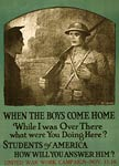 Students of America World War I Poster