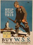 German soldier rifle and bloody knife War Poster