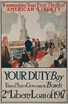 First thrill of American liberty wwi War Poster