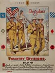 Enlist for infantry, cavalry, field artillery War Poster